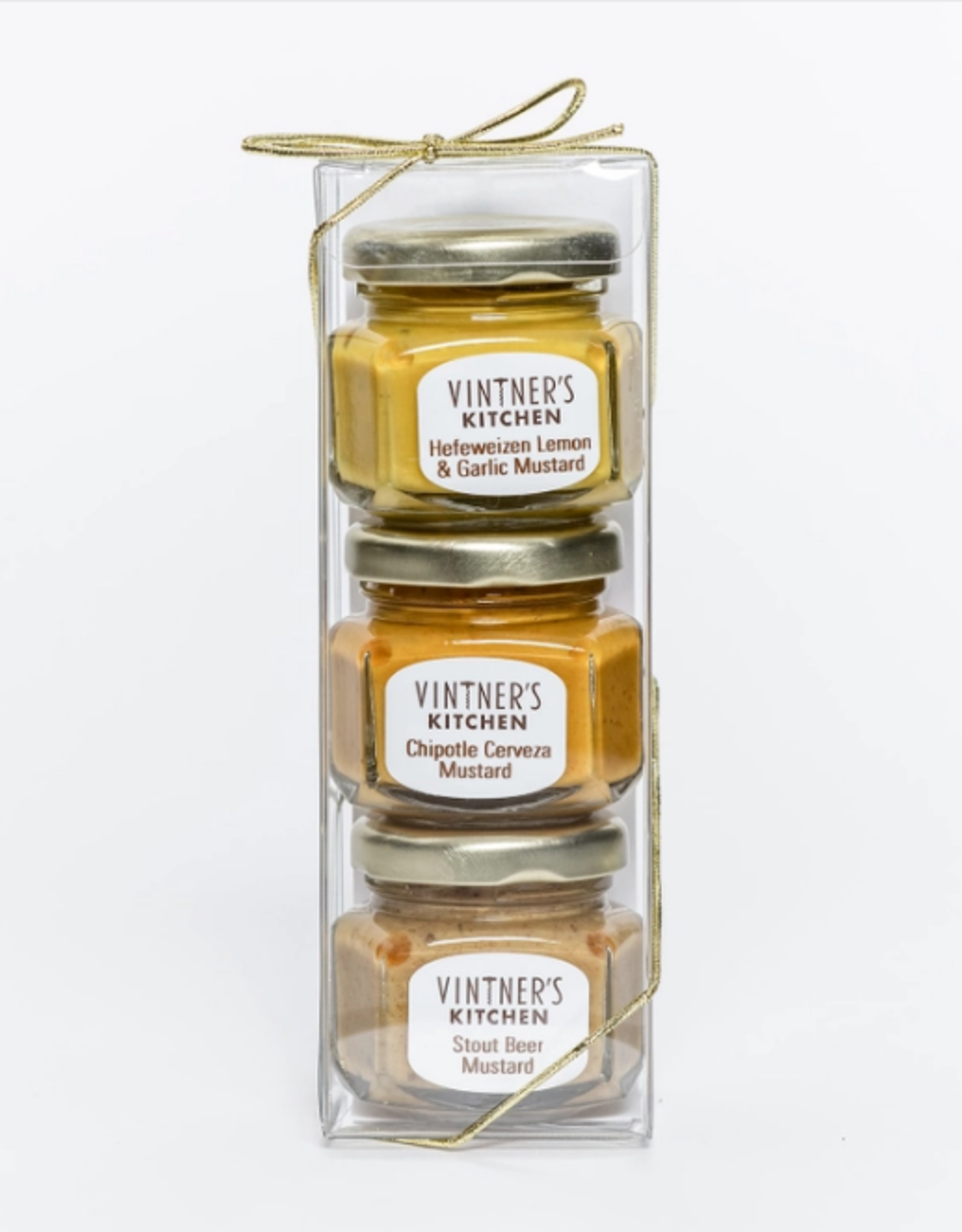 Vintner's Kitchen Beer Mustard Trio Jars