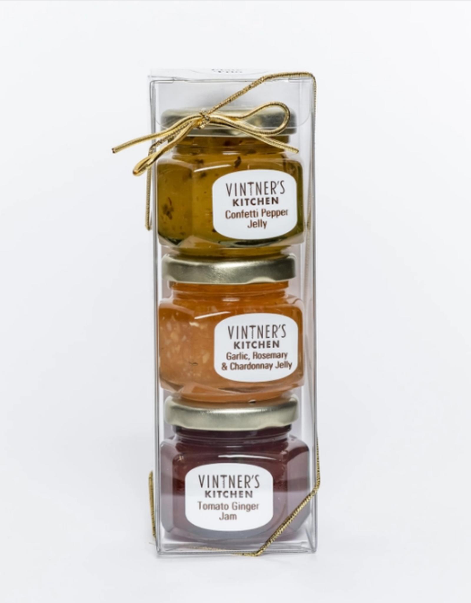 Vintner's Kitchen Cheese Plate Trio Jars