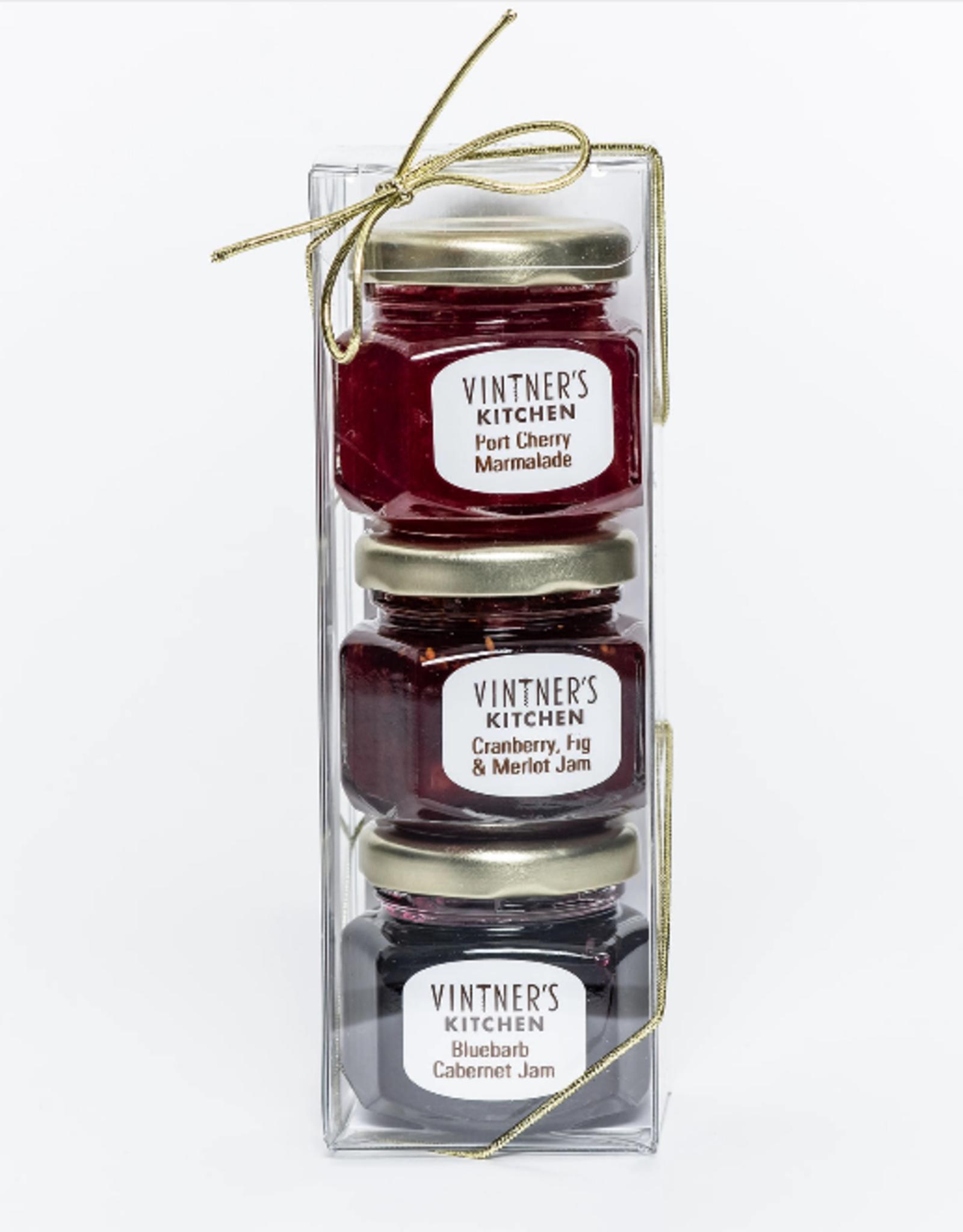 Vintner's Kitchen Country Kitchen Trio Jars