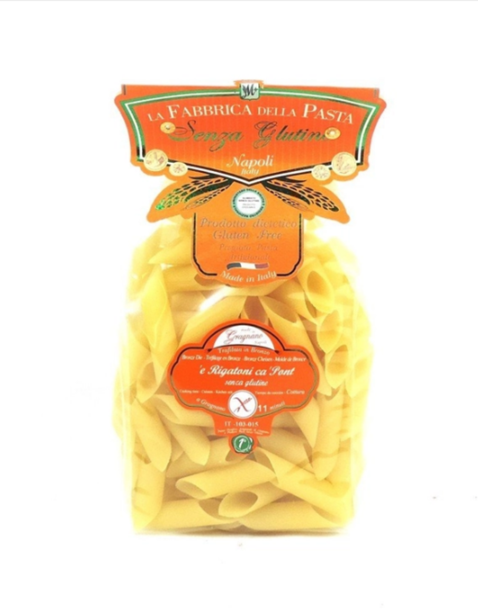 Zia Pia Imports + Italian Kitchen Gluten Free Rigatoni ca Pont