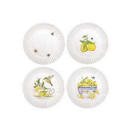 Mary Lake-Thompson Melamine Bee & Lemon Plates Set of 4