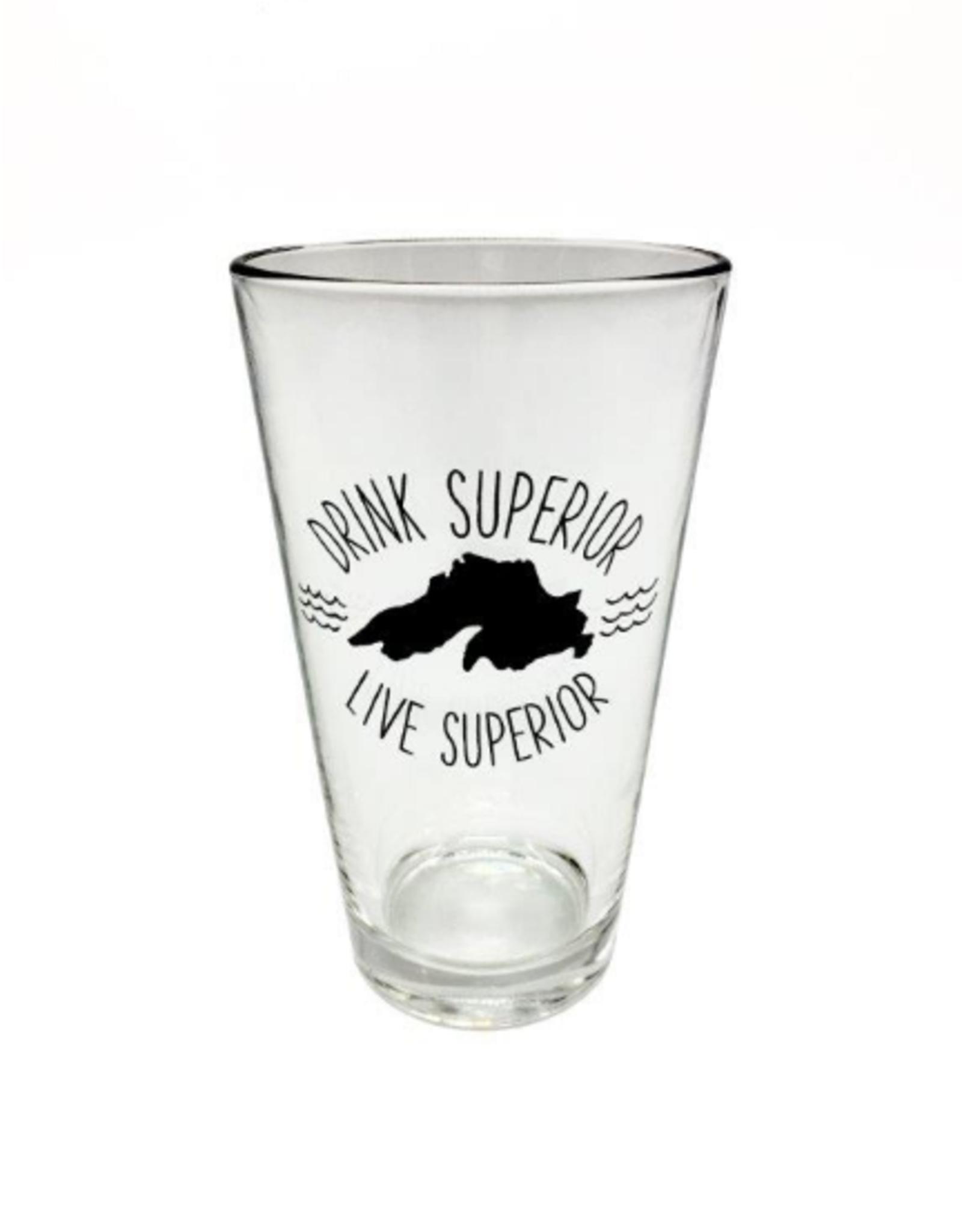 Gitch Gear Lake Superior, Pint Glass, Drink Superior