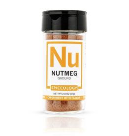 Spiceology Ground Nutmeg, 2oz, Glass Jar