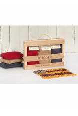 Wabash Valley Farms Burlap Bag Popcorn Gift Set