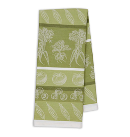 Design Imports Jacq. Dishtowel - Parsley Green Veggies
