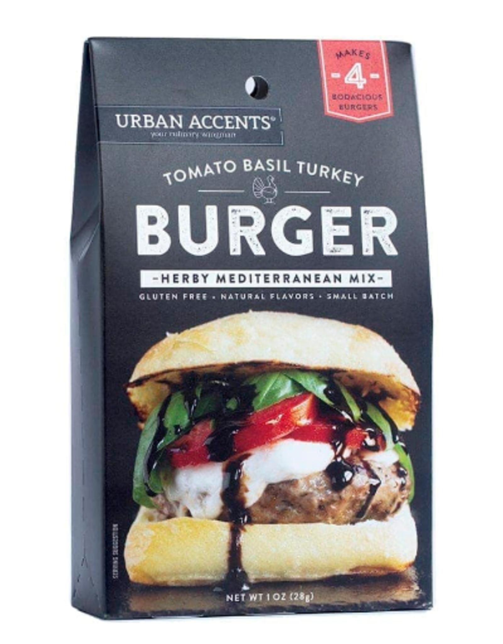 Urban Accents Burger Seasoning, Tomato Basil Turkey