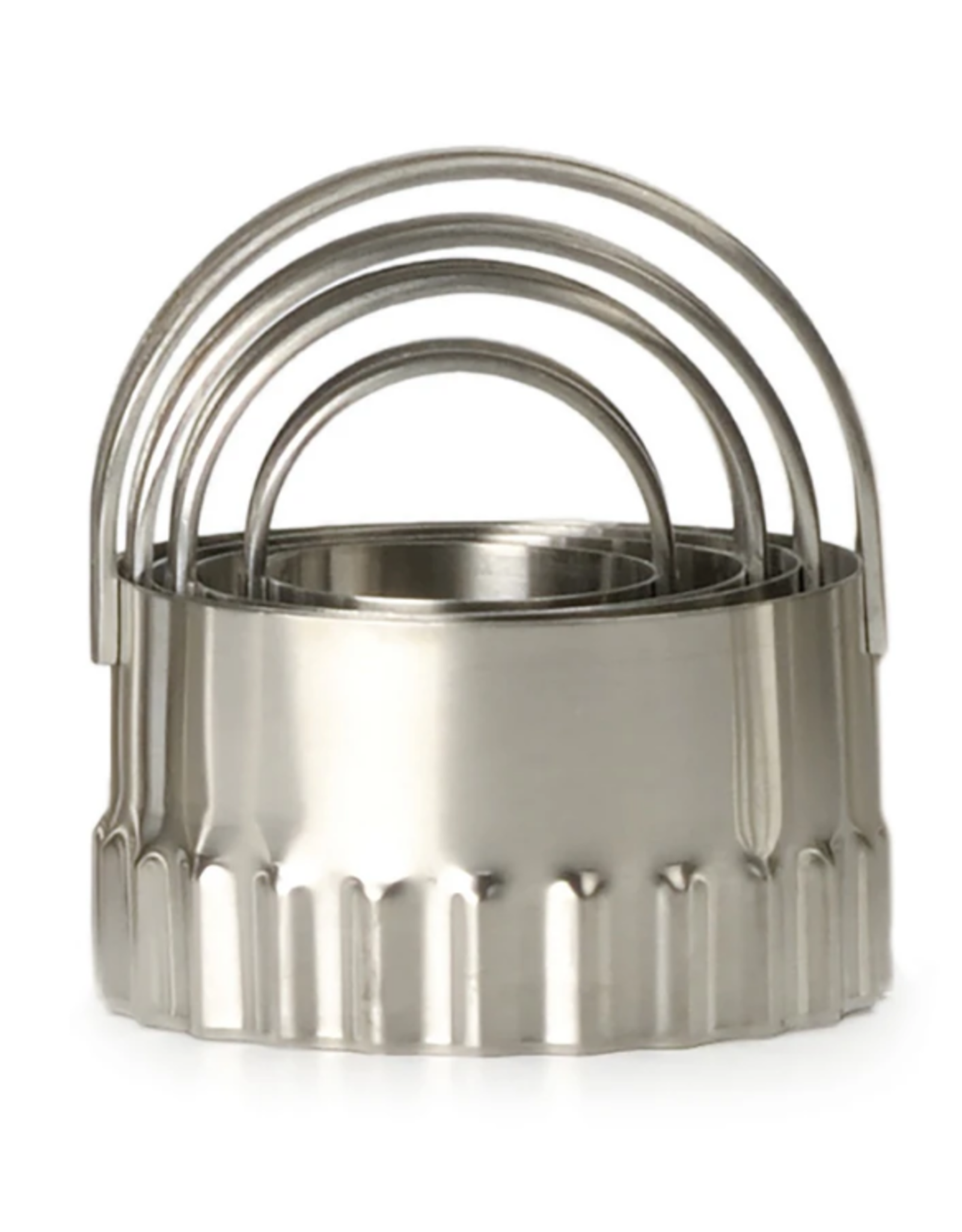 RSVP Biscuit Cutters, round rippled