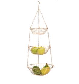 RSVP Hanging Basket, Copper