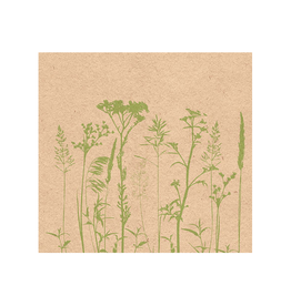 Ampleco Luncheon Napkins, Herbs & Flowers Green