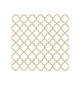 Ampleco Luncheon Napkins, Gold Outline