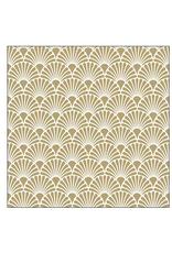 Ampleco Cocktail Napkins, Art Deco Gold White