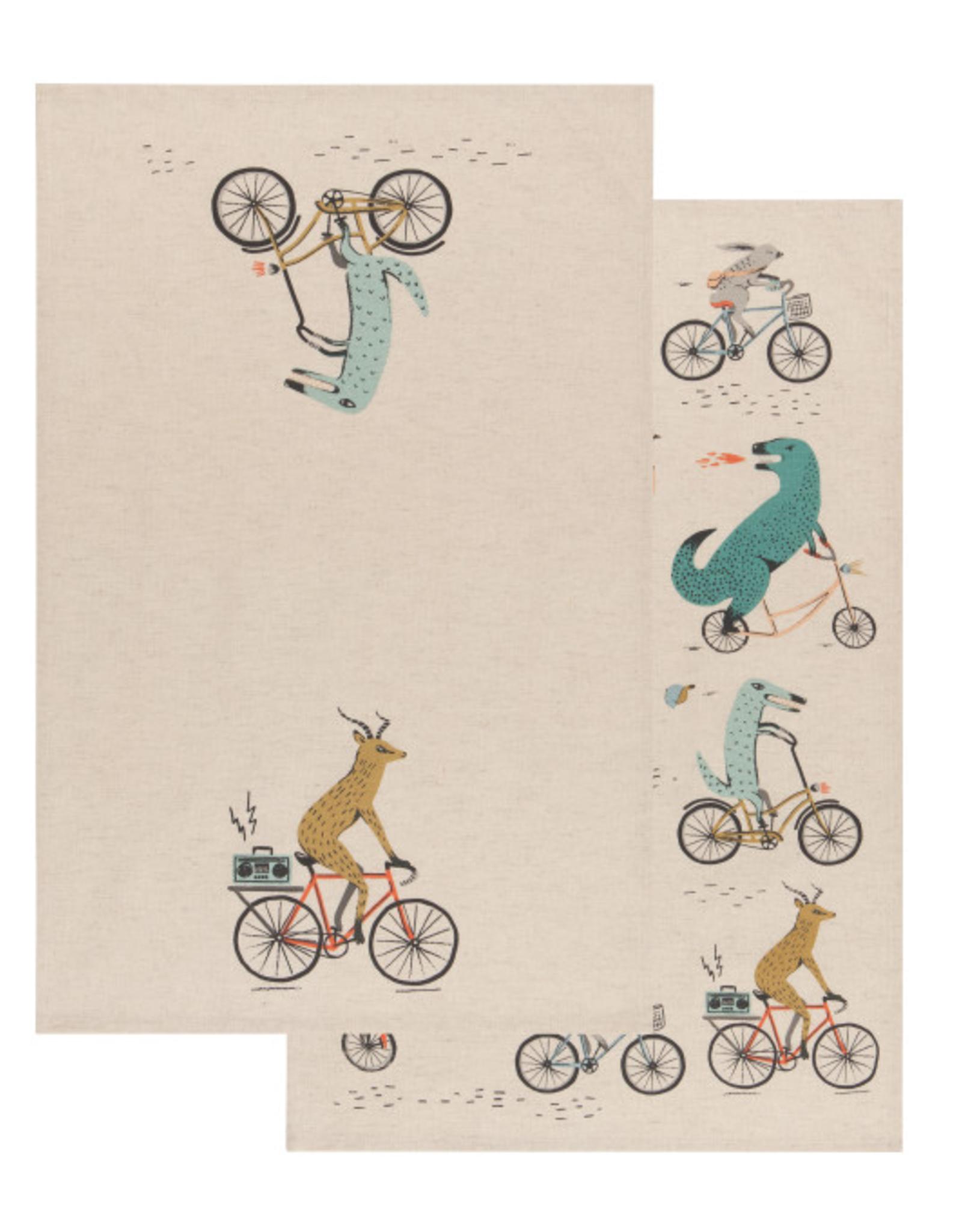 Now Designs Dishtowel S/2, Wild Riders