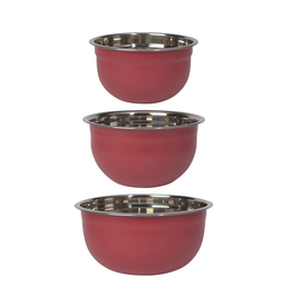 Now Designs Mixing Bowl Set/3 - Red Carmine