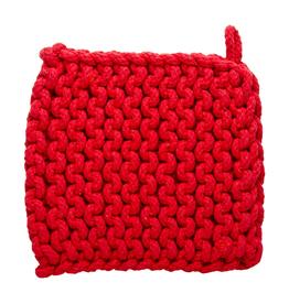 Tag Crochet Trivet/Potholder, Red