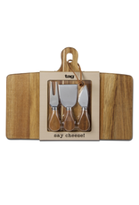 Tag Cheese Board & Utensil Set, Lg,