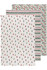 Now Designs Dishtowel S/3, Merry & Bright