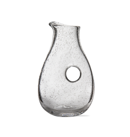 Tag Open Handle Pitcher, Bubble Glass