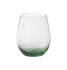 Tag Stemless Wine Bubble Glass, Light Green