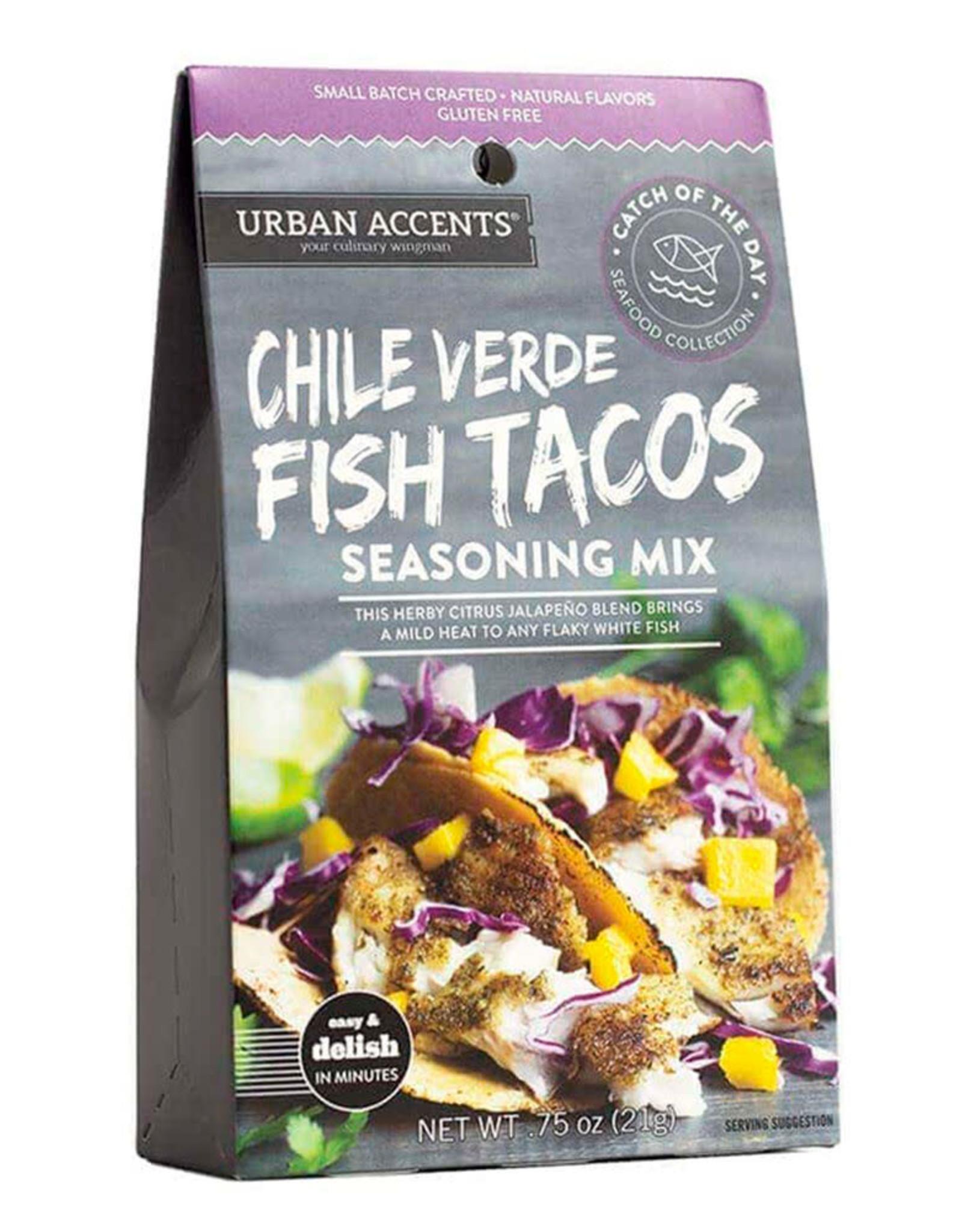 Urban Accents Chili Verde Fish Tacos