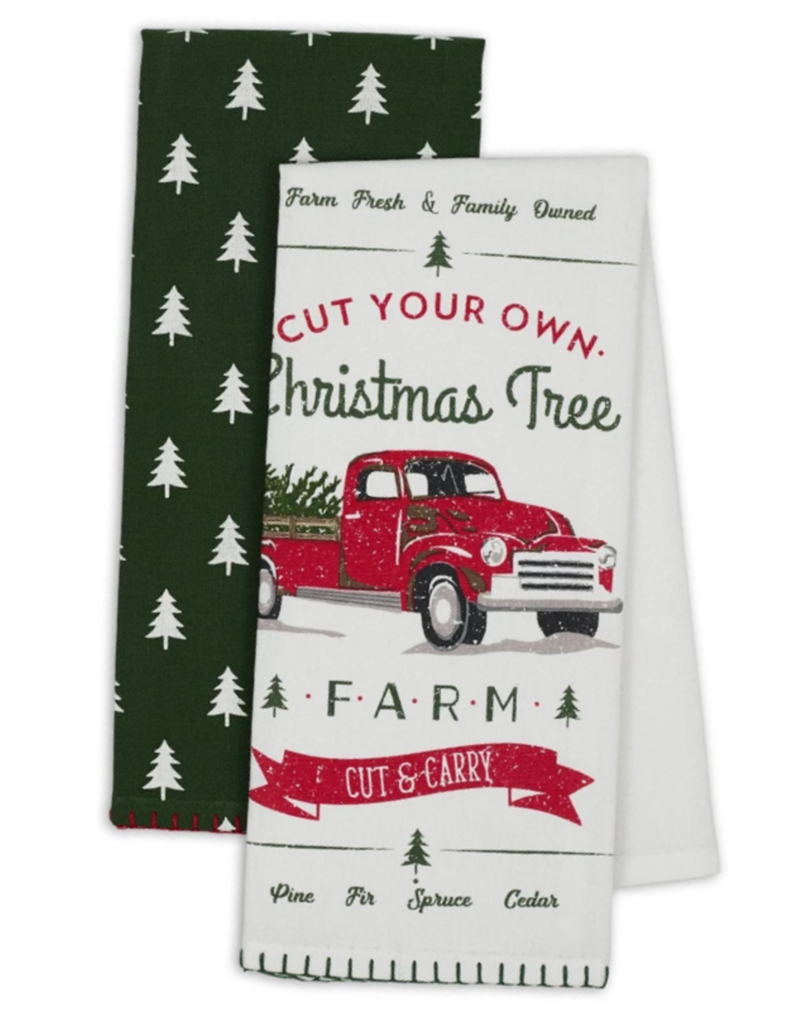 Design Imports Christmas Truck Dishtowel S/2