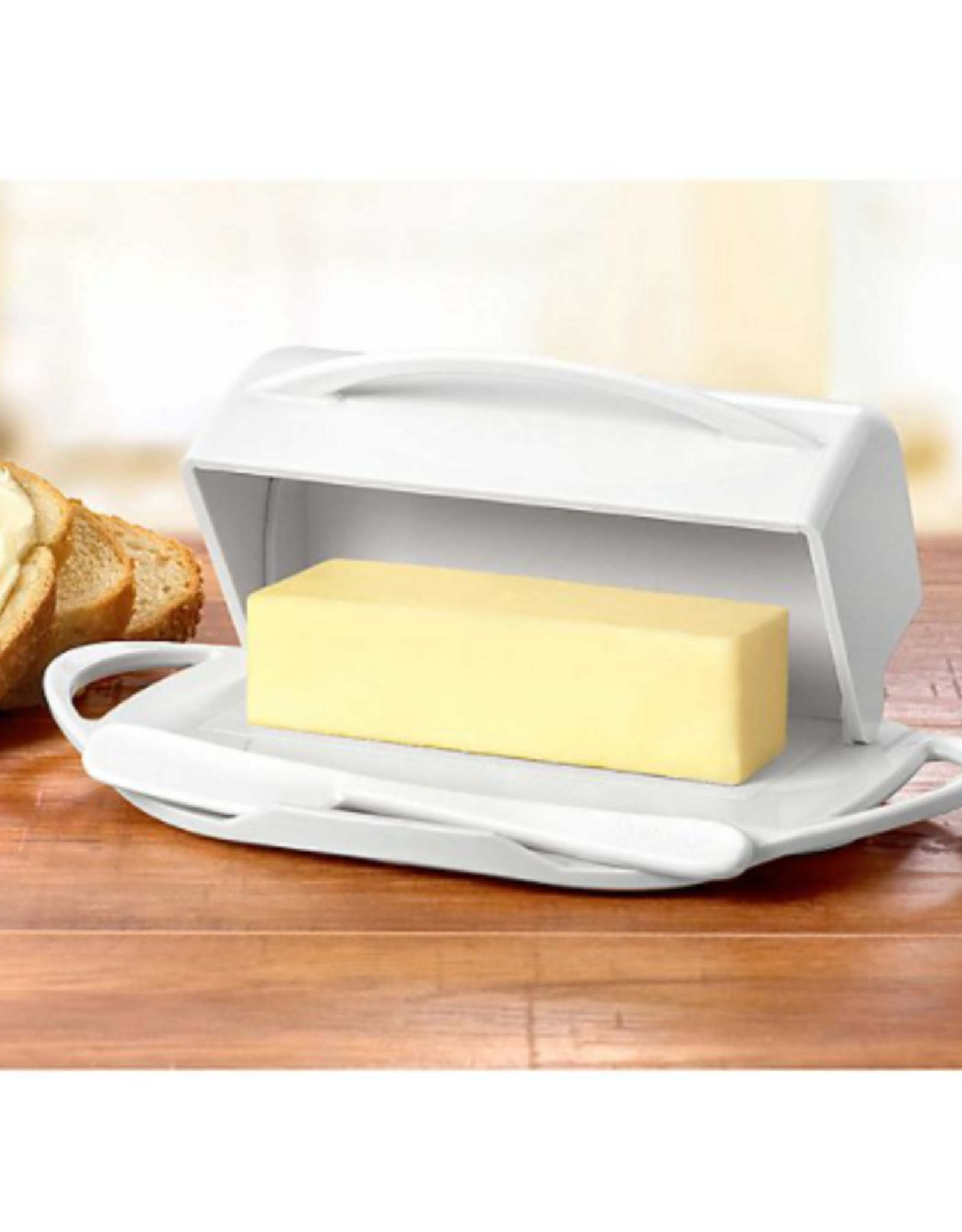 Kitchen Concepts Unlimited Butterie Butter Dish - White