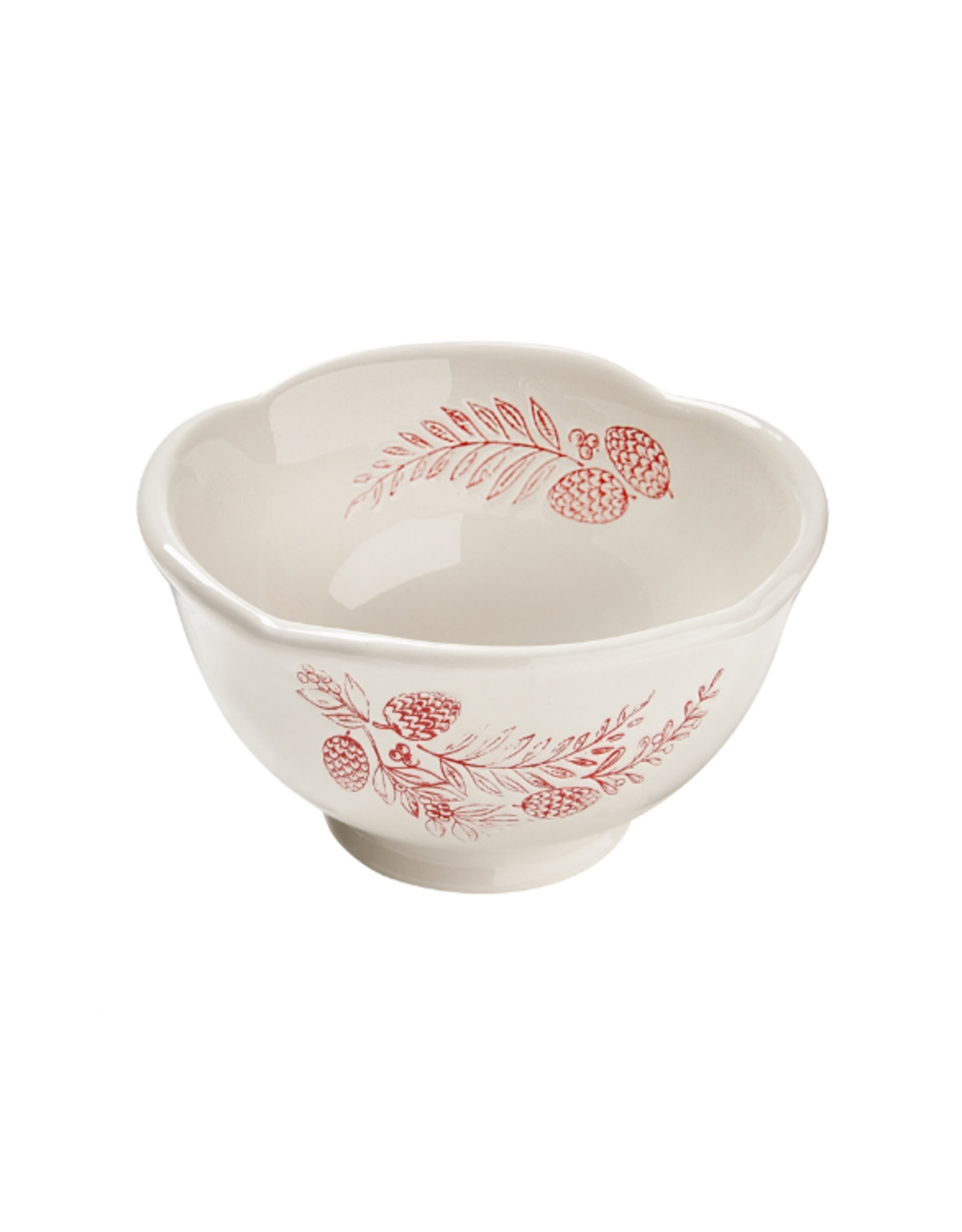 Tag Bowl - White & Red Sprig