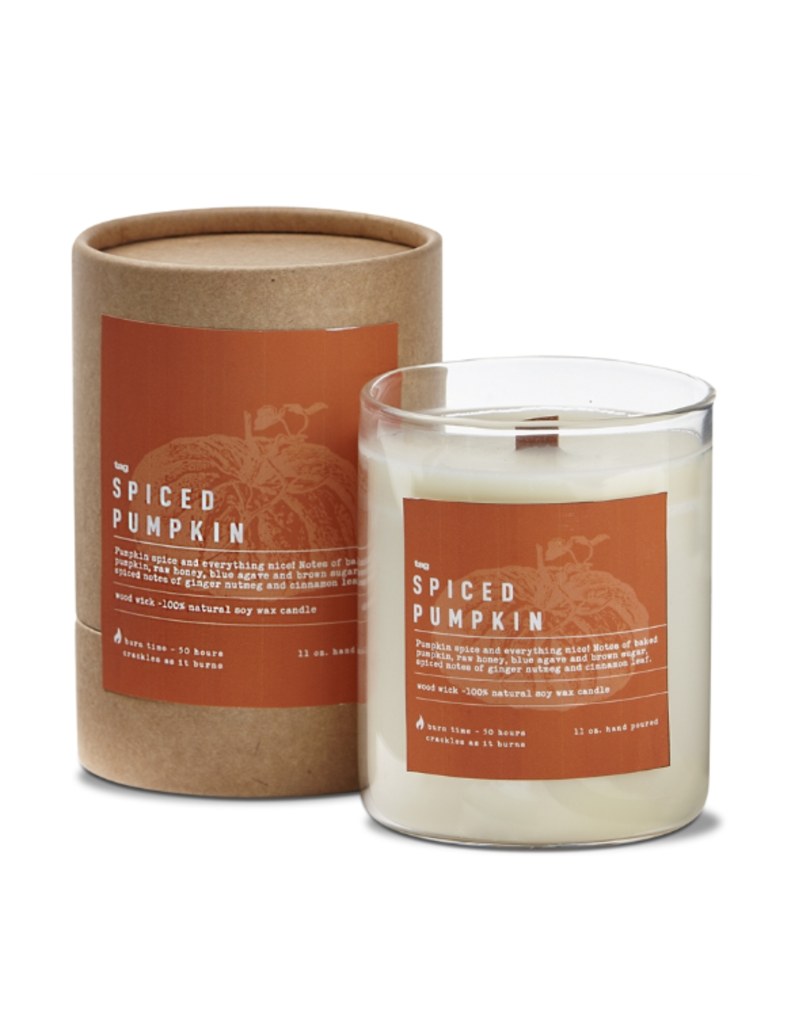 Tag Candle - Pumpkin Pie Spice