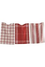 Tag Dishtowel S/3, Classic Red