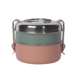 Now Designs Tiffin Food Container, 2 Tier - Clay