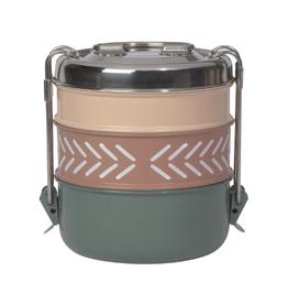Now Designs Tiffin Food Container, 3 Tier - Clay
