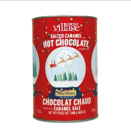 Gourmet Village Snowglobe Salted Caramel Hot Choc Canister
