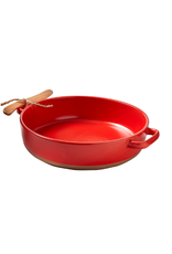 Tag Brie Baker w/ Spreader - Red