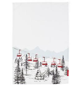 Stonewall Kitchen Winter Tea Towel, Ski Lift