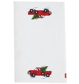 Stonewall Kitchen Winter Tea Towel, Holiday Truck