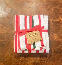 Design Imports Holiday Stripe Heavyweight Towel S/3