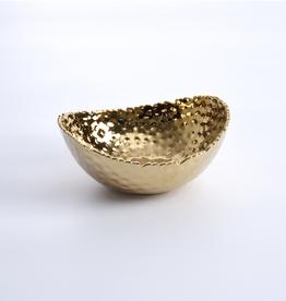 Pampa Bay Small Oval Bowl, Gold