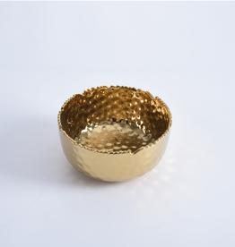 Pampa Bay Medium Round Bowl, Gold