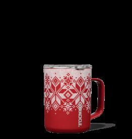 Corkcicle Corkcicle Mug 16oz, Fairisle Red