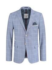 A FISH NAMED FRED Sky Blue Windowpane Sport Jacket