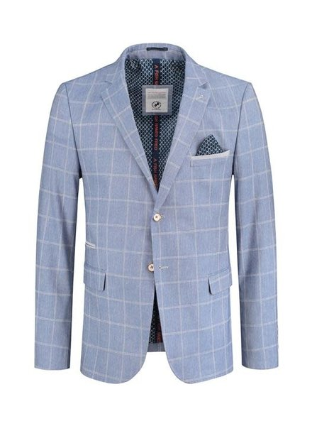 A FISH NAMED FRED Sky Blue Windowpane Sport Jacket