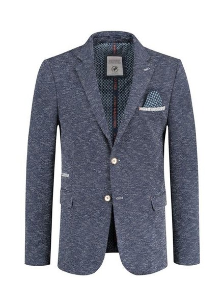 A FISH NAMED FRED Navy Melange Sport Jacket