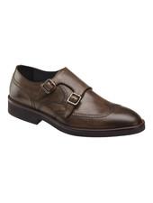 JOHNSTON & MURPHY Ridgeland Brown Double Buckle Dress Shoe
