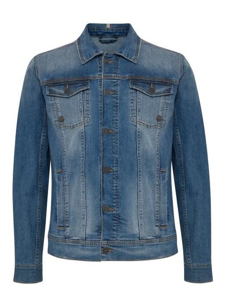 BLEND Slim Fit Mid Wash Jean Jacket