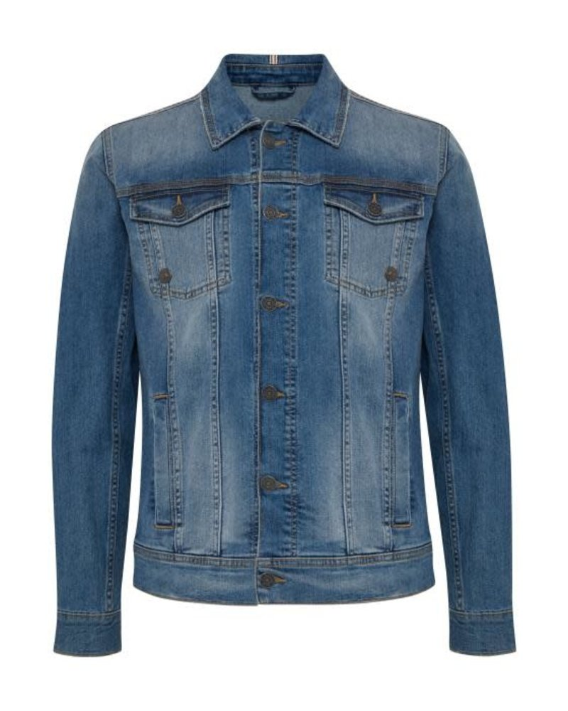BLEND Slim Fit Mid Wash Jean Jacket