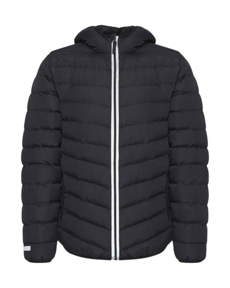 BLEND Nylon Quilted Grey Bomber Jacket
