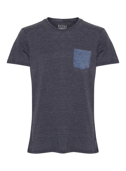 BLEND Cotton Skeleton Pocket T-Shirt