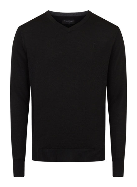 BRUUN & STENGADE Wool Blend V-Neck Sweater