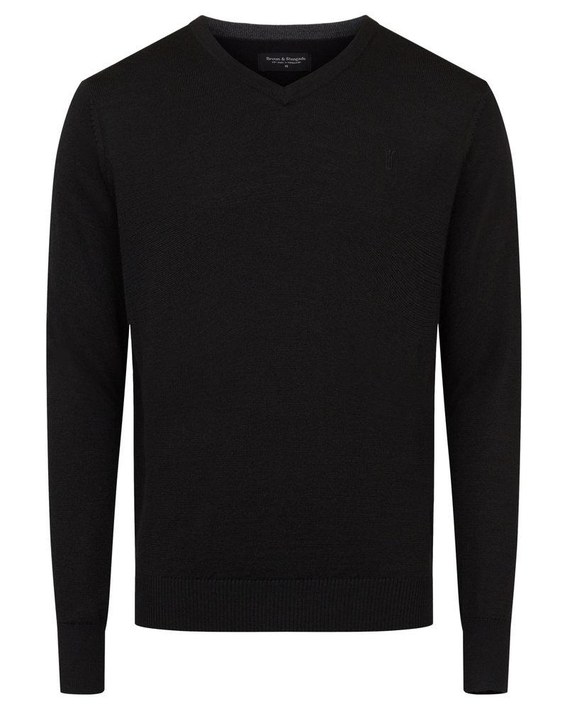 BRUUN & STENGADE Wool Blend V-Neck Sweater