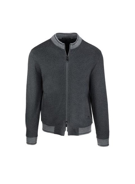 ROBERT BARAKETT Preston Grey Full Zip Sweatshirt