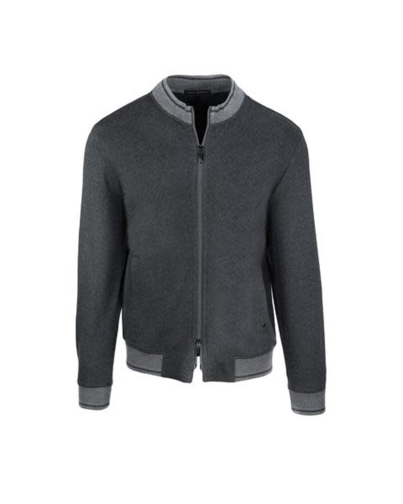 ROBERT BARAKETT Preston Grey Full Zip Sweatshirt